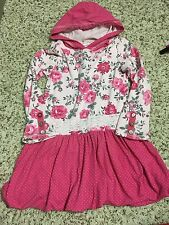 NAARTJIE Hooded Pink Floral Bubble Dress Size 6