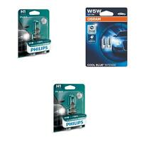 H1 12V 55W X-tremeVision Bis +130% 2St Philips + W5W Cool Blue Intense