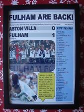 Fulham 1 Aston Villa 0 - 2018 Championship play-off final - framed print