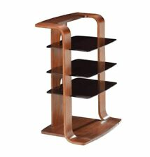Jual Furnishings JF204 Entertainment Unit / Stereo / HiFi Stand in Curved Walnut
