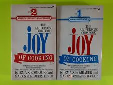 The Joy of Cooking Vol 1 & 2 Paperback (Rombauer,1991) Signet Gift Pack