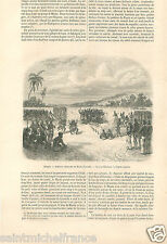 Audience Chef Mutua-Cazembe Village Cafres Africa Afrique GRAVURE OLD PRINT 1856