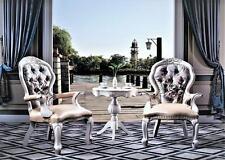 Clásico Conjunto 2x Silla Del Recliner Lounge Club Italiana Mueble Mesa Auxiliar