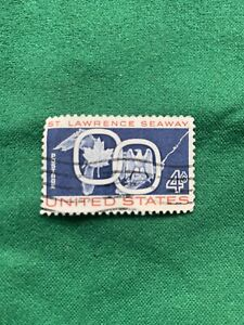 St Lawrence Seaway 4 Cent Stamp Great Shape From 1959