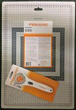 SET OF FISKARS 45 mm Rotary Cutter + A3 Self Healing CRAFT 2 SIDES Mat 30 X 45CM