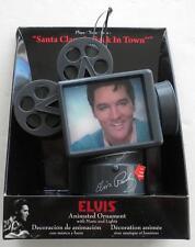 Elvis Presley Luces Música Navidad Película Proyector Ornamento Papá Noel En