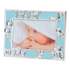 """Bebé Niño Azul/recién Nacidos Foto Marco Plateado iconos - 6X4""""/10X15 cm BFA1015UE"""