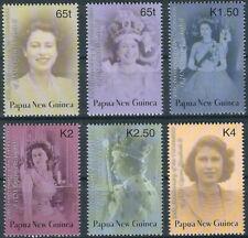 Papua Neuguinea - 50 Jahre Elisabeth Krönung Satz postfrisch 2003 Mi. 976-981