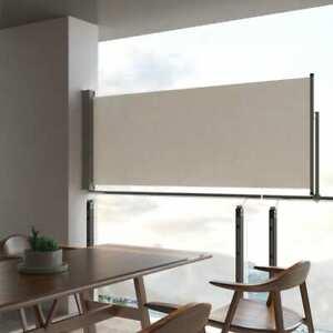 vidaXL Tenda da Sole Laterale Retrattile 100x300 cm Crema Parasole Frangivento