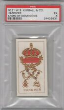 1888 N181 W. S. Kimball & Co. Arms of Dominions Hanover Graded PSA 5