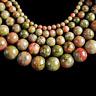 Unakite fil perle percée de 4mm gemme chakra coeur lithothérapie