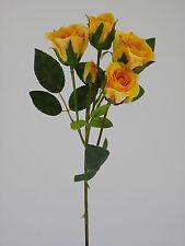 "Rose Rosenzweig ""Newport"" grün/gelb 40cm Kunstblumen Rosen Dekoration"
