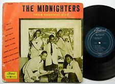 """The MIDNIGHTERS Their Greatest Hits 1954 R&B Doo Wop 10"""" Federal SM8"""
