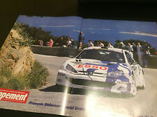 POSTER A3 ECHAPPEMENT DELECOUR GRATALOUP PEUGEOT 206 WRC TOUR DE CORSE 1999