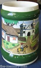 de Porcelanas Y Ceramicas Honduras Village Scene Large Coffee Beer Mug Stein