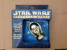 Vintage Star Wars C-3PO NIB Computer Mouse NOS '90's PS/2 Connector C3PO