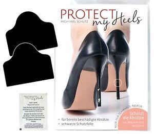 ProtectMyHeels Absatz-Schutz-Folie Absatzschoner Schwarz