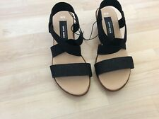 Brand New ladies lovely black wedge shoes by White Sands size 6