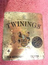 TWININGS EARL GREY  TEA  TIN   [EMPTY]  MADE  IN  ENGLAND