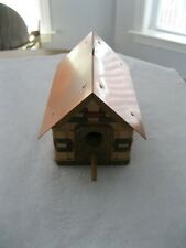 Woven Basket Birdhouse With Copper Roof