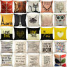 "18"" Linen Cotton Fashion Throw Pillow Case Cushion Cover Home Decor Home Sofa"
