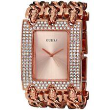 New Authentic GUESS Rose Gold-Tone Multi-Chain Bracelet Watch 48x40mm U0085L3