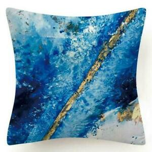 """Cushion COVER Teal Blue Double-Sided Decorative White Throw Pillow Case 18x18"""""""