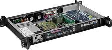 """1U ITX (250W PSU)(3.5 or 2x2.5HD)(Rackmount Chassis)(2x4cm Fan)(D:9.84"""" Case)NEW"""