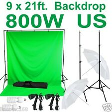 Linco Studio Chromakey Green Muslin Backdrop Kit Screen Light CK415