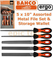 "BAHCO BAH47810 Sandvik Ergo 5 Piece Engineers 10""/250mm Metal File Set & Wallet"