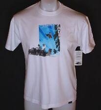Nuova Con Etichetta Originale Da Uomo Oakley Ettla SS T-Shirt Piccolo Bianco Sci