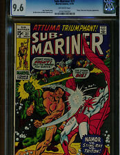 SUB-MARINER #31 CGC 9.6 NEAR MINT + 1970 STING RAY BATTLE COVER OFF WHITE PAGES