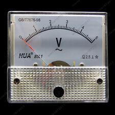 AC 5V Analog Voltmeter Panel Pointer Volt Voltage Meter Gauge 85L1 0-5V AC