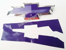 "Deep Purple Vinyl Decal Sheets (2) U-Cut Chevy Bowtie Emblem covers 11"" x 4"" DIY"