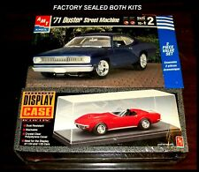 AMT 1:25 scale kits # 8334 & # AMTS0600 '71 DUSTER STREET MACHINE & DISPLAY CASE