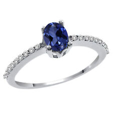 Simulated Sapphire Fine Rings