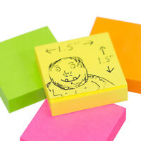 """Mini 38mm x 38mm 1.5"""" Neon Colour 800 Sticky Notes Small Square Note Pad Block"""
