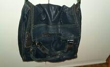 Lucky Brand purse Abbey Road Dark Blue Italian lamb leather crossbody boho bag