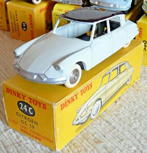 Sublime Vraie Dinky toys France Meccano Citroen DS19 24C + boite origine