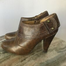 Seychelles Anthropologie Leather Booties Size 7.5 Boots Buckle Zip