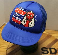 "VINTAGE ""STILL CRAZY AFTER ALL THESE YEARS"" TRUCKERS SNAPBACK HAT BLUE VGC"