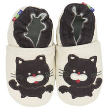 carozoo black cat cream  6-12m soft sole leather baby shoes