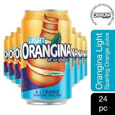 Orangina Light Can Sparkling Juice Drink 4pk of (6x330ml), 24 CANS