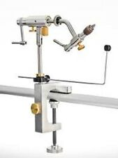 DYNA KING ULTIMATE INDEXER ROTARY FLY TYING VISE WITH CLAMP BASE 100 FREE HOOKS