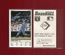 1991 Panini Baseball Sticker Kansas City Royals #224 George Brett