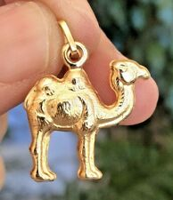 18K Gold Egyptian Camel Pendant single hump beautifully crafted