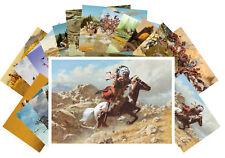24 Postkarten Set * Native American Life Painting by Howard Terping CD3009