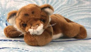 "Fiesta 8"" Laydown Jungle Animals Tiger Plush Stuffed Animal Realistic Science"