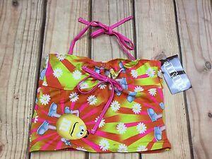 M&M Girl's Halter Tankini Swim Multi Color Top Floral