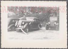 Vintage Car Photo 1936 Buick Automobile Wreck & 1934 1936 International 737366